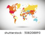 world map countries. world map... | Shutterstock .eps vector #508208893