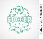 soccer emblem green line icon... | Shutterstock .eps vector #508209487