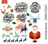 christmas decoration collection ... | Shutterstock .eps vector #508213267