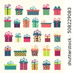 set of colorful gift boxes ... | Shutterstock .eps vector #508229083