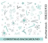 christmas hand drawn objects... | Shutterstock .eps vector #508231933