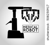 medical robot icon vector | Shutterstock .eps vector #508250917