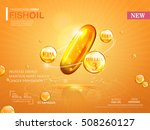 fish oil ads template  omega 3... | Shutterstock .eps vector #508260127