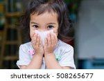 kid girl gag sneeze baby | Shutterstock . vector #508265677
