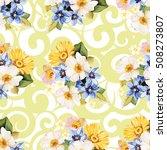 seamless pattern blue white... | Shutterstock .eps vector #508273807