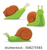 cute snail poses cartoon vector ...