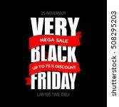 black friday sale inscription...   Shutterstock .eps vector #508295203