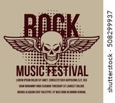 rock music festival poster | Shutterstock .eps vector #508299937