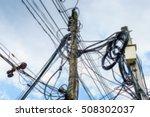 Blurred High Voltage Power Pol...