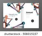 molecule annual report....   Shutterstock . vector #508315237
