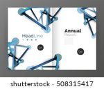 molecule annual report....   Shutterstock . vector #508315417