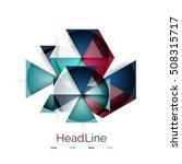 3d geometric abstract... | Shutterstock . vector #508315717