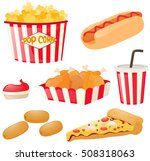 fastfood set with hotdog and... | Shutterstock .eps vector #508318063