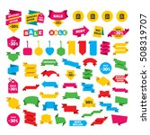 sale bag tag icons. discount... | Shutterstock .eps vector #508319707