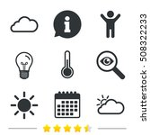 weather icons. cloud and sun.... | Shutterstock .eps vector #508322233