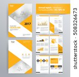page layout for company profile ... | Shutterstock .eps vector #508326673