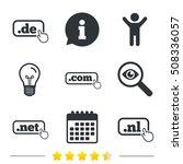 top level domains signs. de ... | Shutterstock .eps vector #508336057