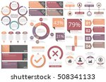 infographic elements   circle... | Shutterstock .eps vector #508341133