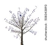 tree with mathematical... | Shutterstock . vector #508343893