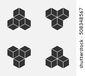 cube isometric logo concept  3d ... | Shutterstock .eps vector #508348567