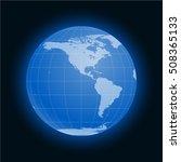 globe earth symbol flat icon...   Shutterstock . vector #508365133