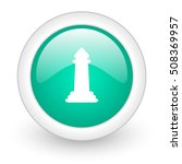 chess round glossy web icon on... | Shutterstock . vector #508369957