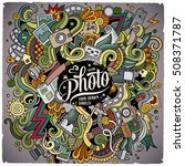 cartoon cute doodles hand drawn ... | Shutterstock .eps vector #508371787
