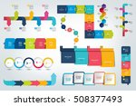 mega set of infographics... | Shutterstock .eps vector #508377493