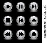 media buttons | Shutterstock .eps vector #50837851