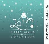 vector illustration of new year ... | Shutterstock .eps vector #508380157