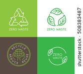 vector logo design templates... | Shutterstock .eps vector #508383487