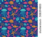 vector seamless pattern with... | Shutterstock .eps vector #508394803