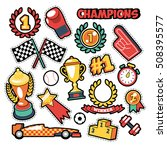 fashion badges  patches ... | Shutterstock .eps vector #508395577