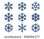 Snowflake Winter Set Of Blue...