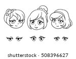 Set Of Pretty Heads In Anime...