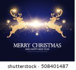 shining christmas card template ... | Shutterstock .eps vector #508401487