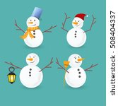 Winter Christmas Snowmen...