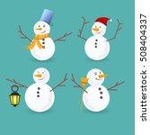 Winter Christmas Snowmen...
