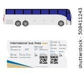vector illustration bus and... | Shutterstock .eps vector #508411243