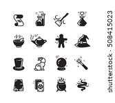 magical vector icons set. magic ... | Shutterstock .eps vector #508415023