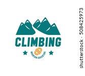 adventure logo  climbing ... | Shutterstock .eps vector #508425973