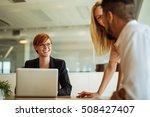 team of colleagues working... | Shutterstock . vector #508427407