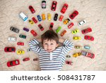 adorable boy  lying on the... | Shutterstock . vector #508431787