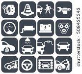 vector auto car and mechanic... | Shutterstock .eps vector #508435243