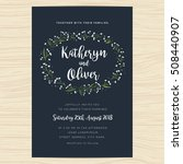 wedding invitation card... | Shutterstock .eps vector #508440907