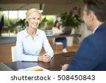 portrait of senior banking... | Shutterstock . vector #508450843