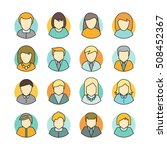 set of people characters avatar ... | Shutterstock .eps vector #508452367