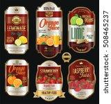retro vintage golden labels for ... | Shutterstock .eps vector #508465237