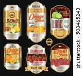 retro vintage golden labels for ... | Shutterstock .eps vector #508465243