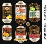 retro vintage golden labels for ... | Shutterstock .eps vector #508465267